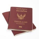 Passaporto della Tailandia isolato Immagini Stock