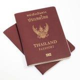 Passaporto della Tailandia isolato Fotografia Stock Libera da Diritti