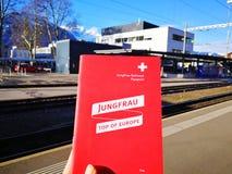 Passaporto di Jungfraujoch - cima del ‹del †di Europa Fotografie Stock