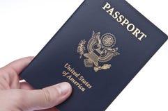 Passaporto a disposizione Fotografie Stock Libere da Diritti