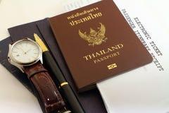 Passaporto ed affare di viaggio Immagine Stock Libera da Diritti
