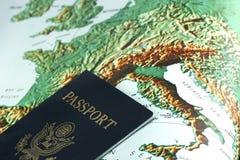 Passaporto Europa Fotografia Stock Libera da Diritti