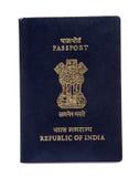 Passaporto indiano fotografia stock