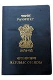 Passaporto indiano isolato Fotografia Stock Libera da Diritti