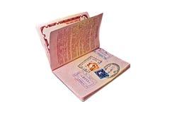 Passaporto internazionale russo Fotografie Stock