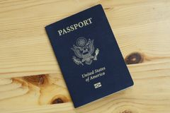 Passaporto internazionale ufficiale della dogana degli Stati Uniti fotografia stock libera da diritti