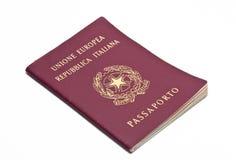 Passaporto italiano Immagini Stock