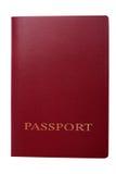 Passaporto rosso Fotografie Stock