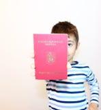 Passaporto rumeno Fotografie Stock Libere da Diritti