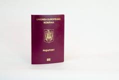 Passaporto rumeno - biometrico fotografia stock libera da diritti