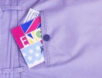 Passaporto, soldi, bussola, traduttore Immagini Stock Libere da Diritti