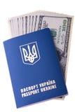 Passaporto straniero del cittadino dell'Ucraina Immagini Stock Libere da Diritti