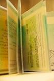 Passaporto - visto Fotografie Stock