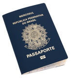 Passaports. Brazilian passport over a white surface, isolated Royalty Free Stock Photography