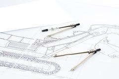 passare som tecknar blyertspennan arkivbild