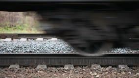 Passare treno video d archivio