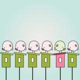 Passarinhos dos desenhos animados Imagem de Stock