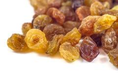 Passas da uva secada em um fundo branco Imagem de Stock