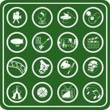 Passatempos e ícones do entretenimento Imagens de Stock Royalty Free