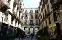 Passatge de Madoz,巴塞罗那耶路撒冷旧城,西班牙 免版税图库摄影