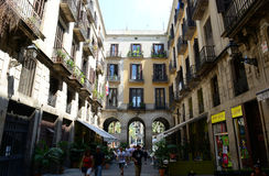 Passatge de Madoz, cidade velha de Barcelona, Espanha Fotografia de Stock Royalty Free