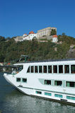 Passau. Ship on Danube river in Passau, Germany Stock Photos