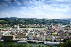 Passau from above Stock Photos