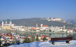 Passau in Bavaria. View of Passau in Bavaria,Bavarian Forest,Germany Royalty Free Stock Photo