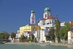 Passau Bayern, Tyskland Arkivbilder
