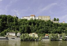 Passau Castle and Riverscape Stock Photos