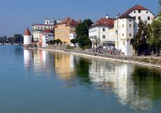 Passau. A city in Bavaria, Germany.  is known as the City of Three Rivers royalty free stock image