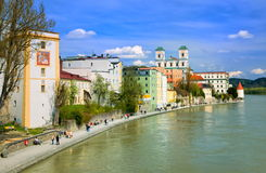 Passau on Danube river, Germany Royalty Free Stock Photography
