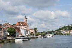 Passau, Deutschland, die Donau, Sommertag Lizenzfreie Stockfotografie