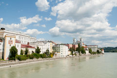 Passau, Inn Promenade Royalty Free Stock Images
