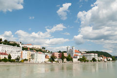 Passau, Inn Promenade Royalty Free Stock Photos