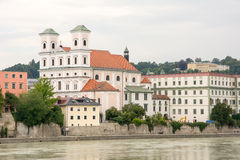 Passau Inn Promenade Royalty Free Stock Photography