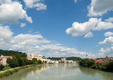 Passau, promenade d'auberge Photos stock