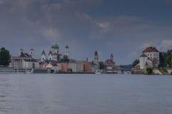 Passau-Skyline Stockfotos