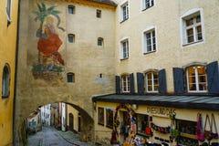 Passau Tyskland Arkivfoto