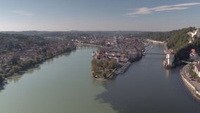 Passavia nella città della Germania rivela stock footage
