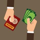 Passbedrägeri och dataintrångdesign royaltyfri illustrationer