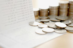 Passbook and coins  for Save money Stock Photography