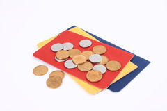 The passbook and coins Royalty Free Stock Image
