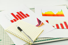 Passbook graph and finance Stock Images