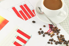 Passbook graph and finance Stock Image