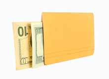 Passbook and money. On a white background Stock Images