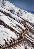 Passe ao vale de Nubra, Ladakh Foto de Stock
