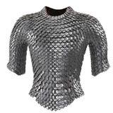 Passe a armadura chain no fundo branco isolado, ilustração 3d fotos de stock royalty free