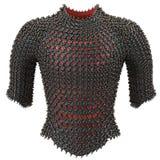 Passe a armadura chain no fundo branco isolado, ilustração 3d Fotografia de Stock