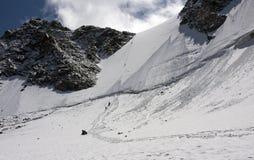 Passe Delone, montanhas de Altai Foto de Stock